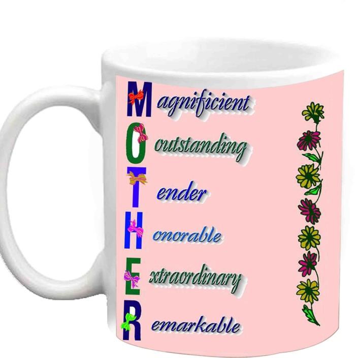 Jiya Creation1 MOTHER Full Form White Ceramic Ceramic Mug Price in ...