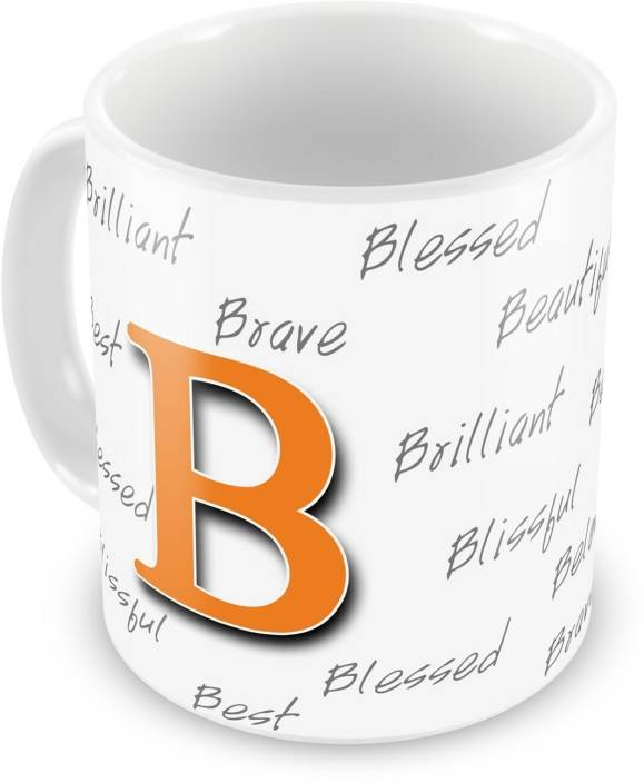 everyday gifts happy birthday gift for starting letter b ceramic mug