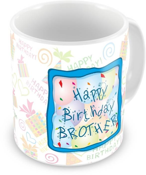 Everyday Gifts Happy Birthday Gift For Brother Ceramic Mug 400 Ml