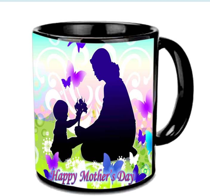 Jiya Creation1 Mother & Cute baby wallpaper Happy Mother's day Multicolor Ceramic Mug