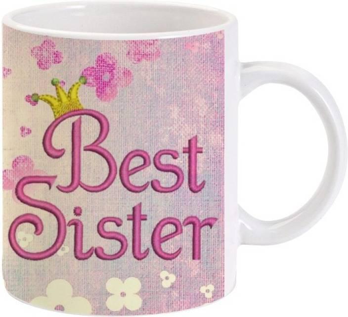 Lolprint Gift for Raksha Bandhan Rakhi Gifts for Sister (Design 42) Ceramic Mug