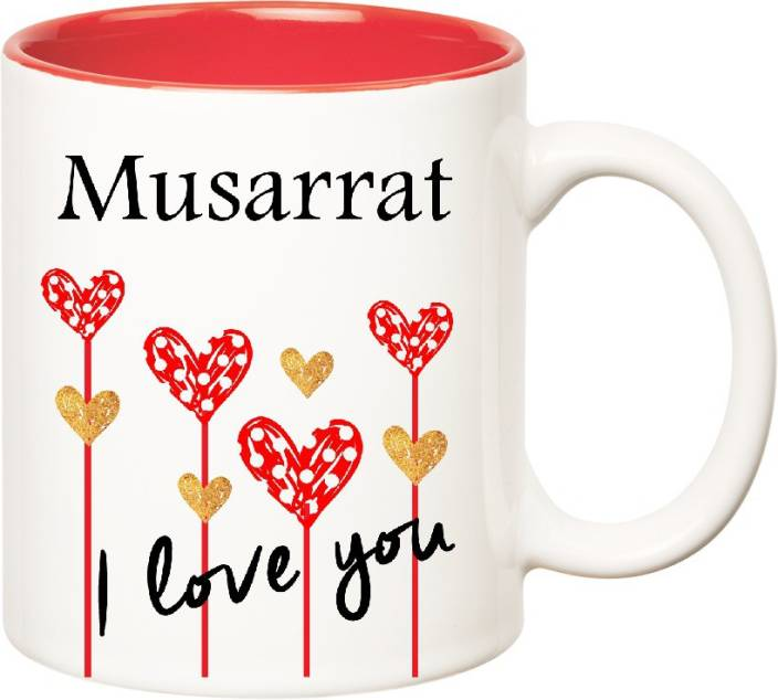 Huppme I Love You Musarrat Inner Red 350 Ml Ceramic Mug