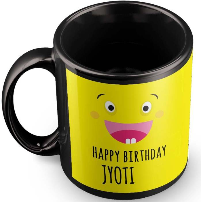 Posterchacha Jyoti Name Happy Birthday Gift Ceramic Mug