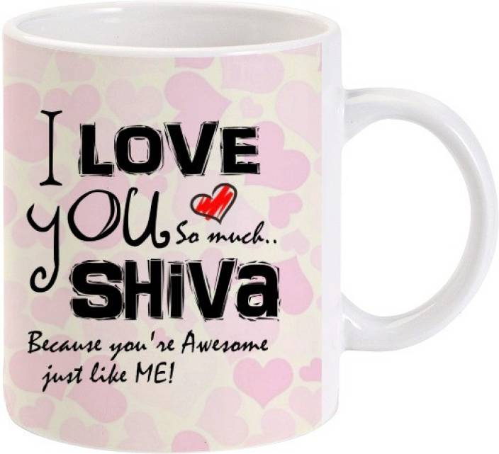 Lolprint I Love You Shiva Ceramic Mug (325 ml)