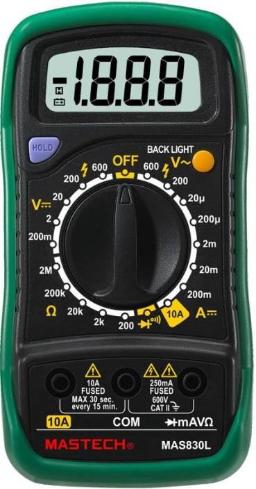 Mastech Mas830l Digital Multimeter Price In India Buy Mastech