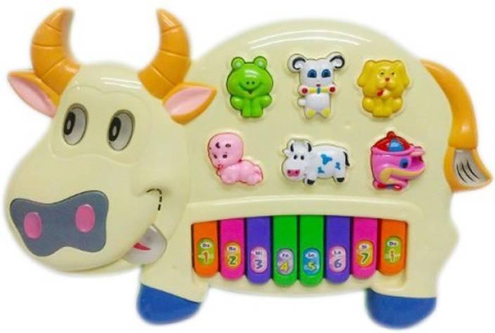 2270e3faa4 Shop   Shoppee Pianism Funny Musical Cow Keyboard Toy - Pianism ...
