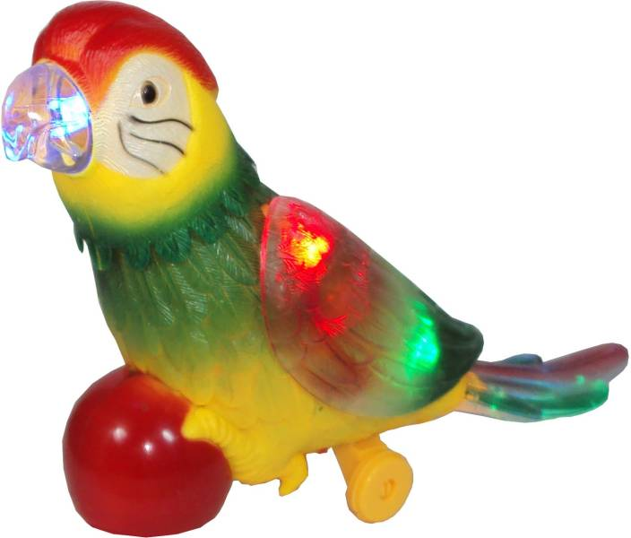 Parteet Funny Electric Parrot with Colourful Lights and
