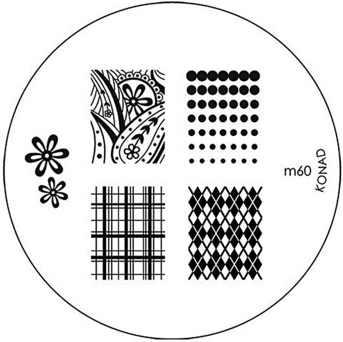 Konad Stamping Nail Art Image Plate - M60 - Price in India, Buy ...