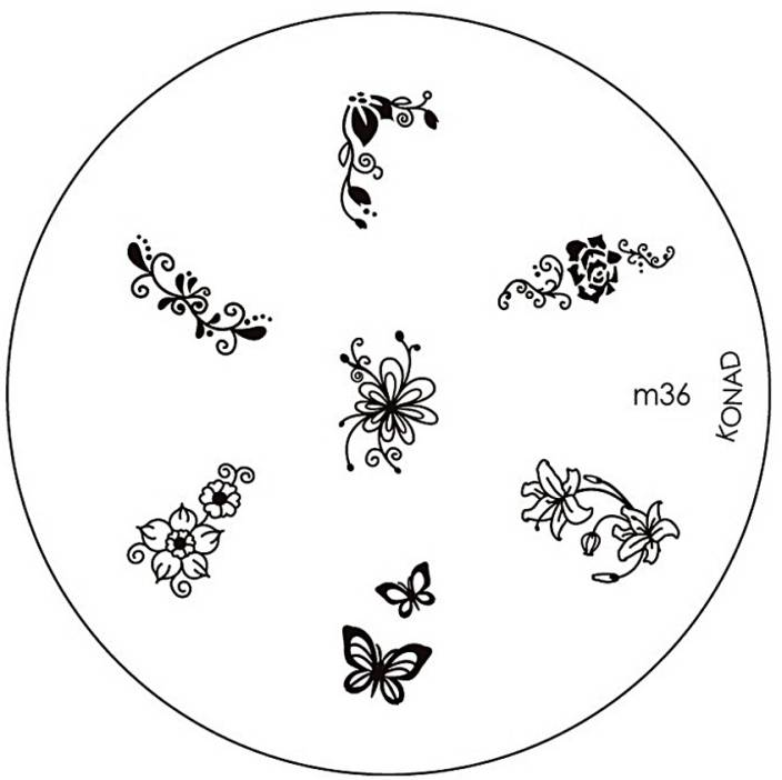 Konad Stamping Nail Art Image Plate - M36 - Price in India, Buy ...