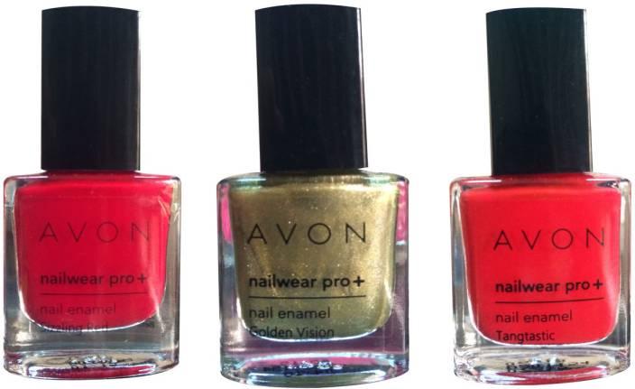 Avon Nailwear Pro+ Nail Enamel Tangtastic, Golden Vision, Sizzling ...