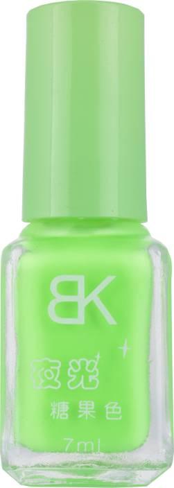 BK Glow In Dark Radium Pastel Green Colour Nail Polish Varnish ...