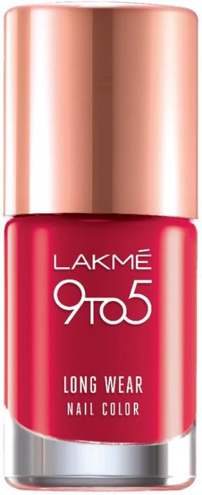 Lakme 9 to 5 Long Wear Nail Color Red