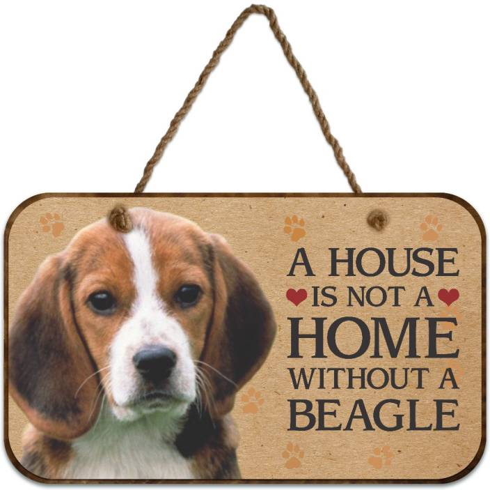 Ezyprnt Wooden A House Is Not A Home Without A Beagle Dog Plaque