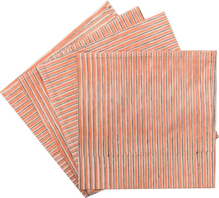 Raaga Textiles N003 Orange Set of 4 Napkins