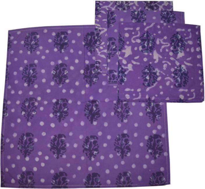 Raaga Textiles N009 Purple Set of 4 Napkins