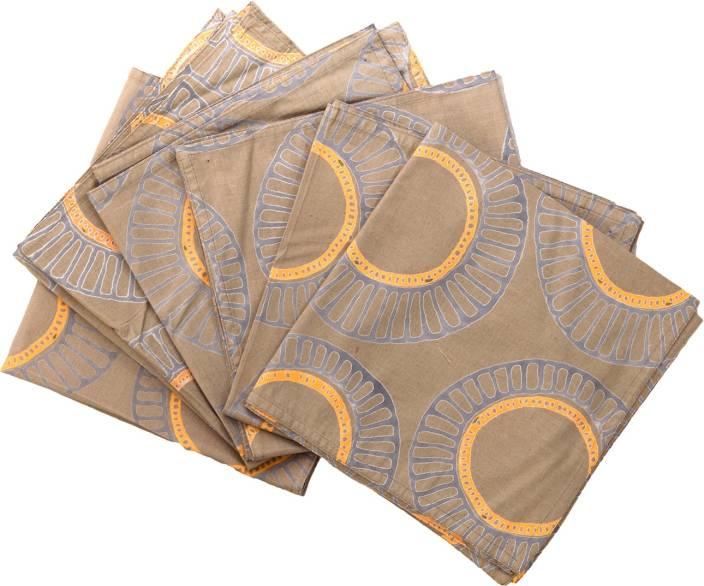 Raaga Textiles N006 Brown, Orange Napkins