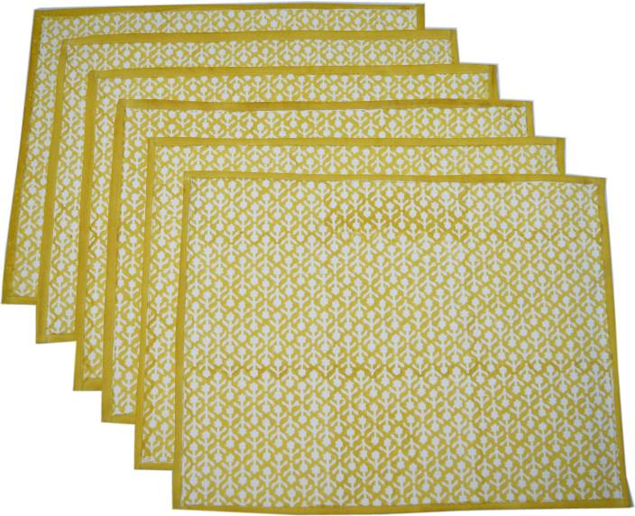Raaga Textiles NT001 White, Yellow Napkins