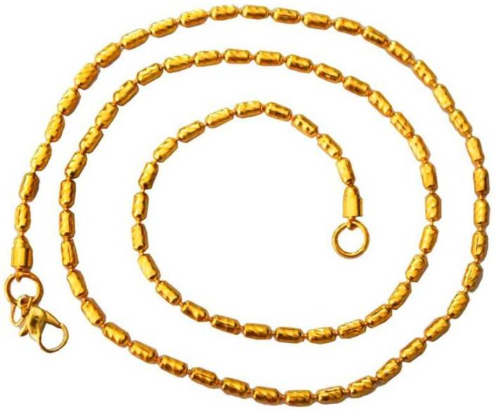 Rich & Famous Mens Jewellery Swivel link Design Yellow Gold Plated Alloy Chain