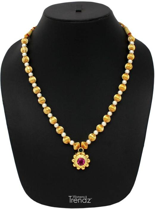 db34301dc1565 Womens Trendz Tarbuj Moti Haar Crystal Gold-plated Plated Alloy ...