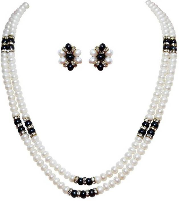 c1147f9be43 My DT Lifestyle Double Line Pearl Necklace Pearl Mother of Pearl Necklace  Set Price in India - Buy My DT Lifestyle Double Line Pearl Necklace Pearl  Mother ...