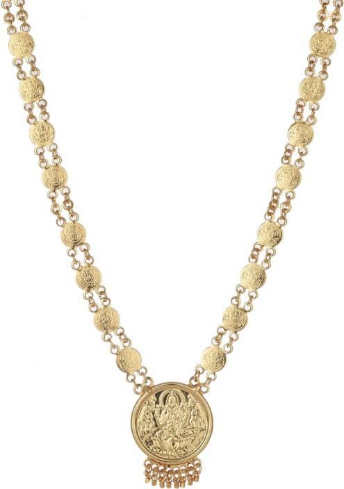 1ccd0d23c56ce Zeneme Lakshmi Gold-Plated Temple Coin Necklace Alloy Necklace