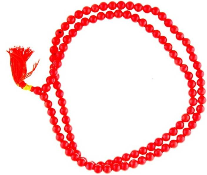 Jaipur Gems And Handicrafts Natural Red Coral Beads Rosary Moonga