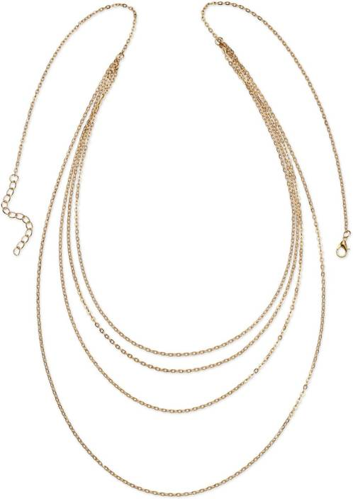 Fayon Multilayer Waist Chain Alloy Necklace