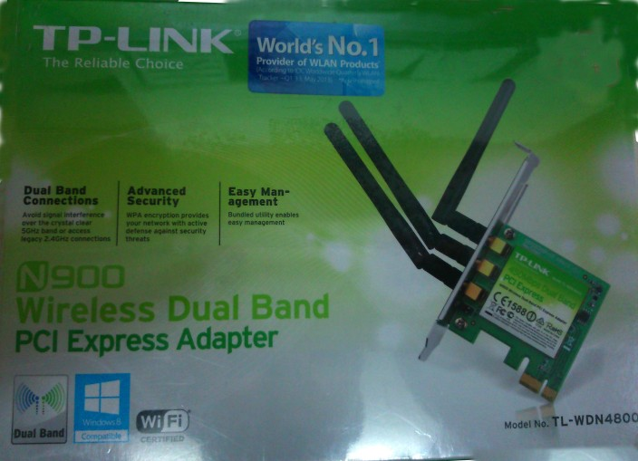 TP-LINK TL-WDN4800 450 Mbps Wireless N Dual Band PCI Express Adapter