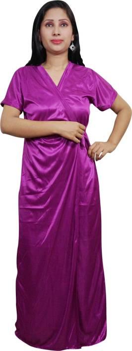 Indiatrendzs Women's Nighty with Robe, Top and Capri