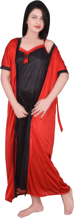 Kanika Women's Nighty with Robe