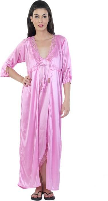 Hot N Sweet Women s Nighty - Buy Pink Hot N Sweet Women s Nighty ... 3d2ffa40c