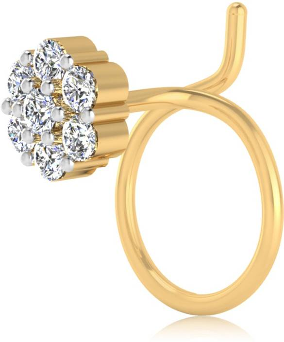 17c2e7b1aa Nagina Diamond Swarovski Crystal Gold-plated Plated Sterling Silver Nose  Ring Price in India - Buy Nagina Diamond Swarovski Crystal Gold-plated  Plated ...