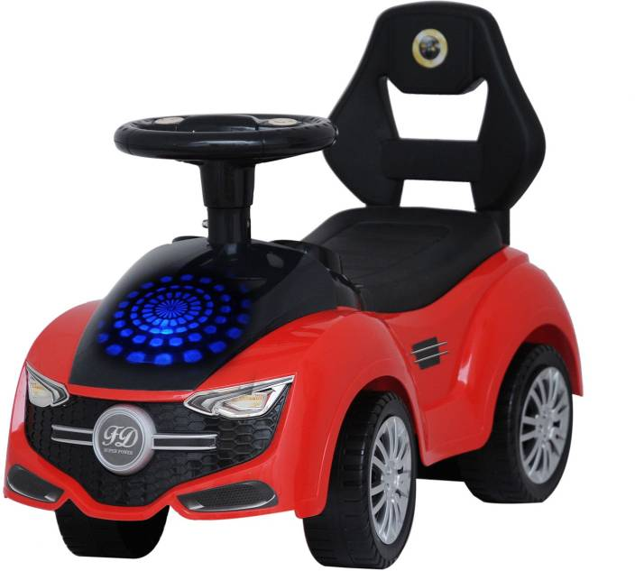 Happy Kidz Free Wheel Ride On Car With Disco Led Lights Horn