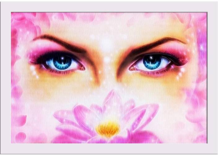 f2ff33cf7 Artzfolio Blue Eyes Women With Lotus Flower Framed Art Print Digital  Reprint 12 inch x 18 inch Painting Price in India - Buy Artzfolio Blue Eyes  Women With ...