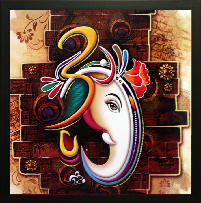 SAF Ganesh Ji Canvas Painting Price in India - Buy SAF ...