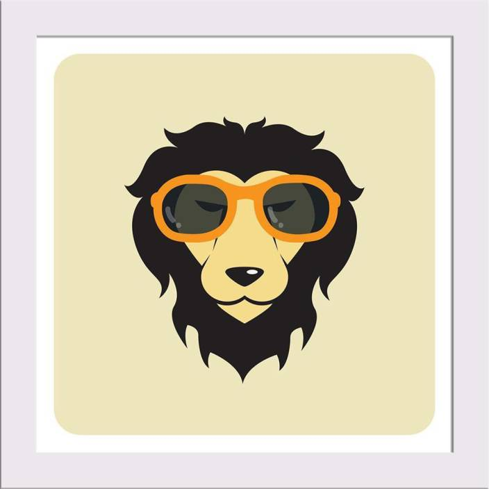 bc1240a4dc8c Artzfolio Lion Wearing Glasses Framed Art Print Digital Reprint 10 inch x  10 inch Painting Price in India - Buy Artzfolio Lion Wearing Glasses Framed  Art ...