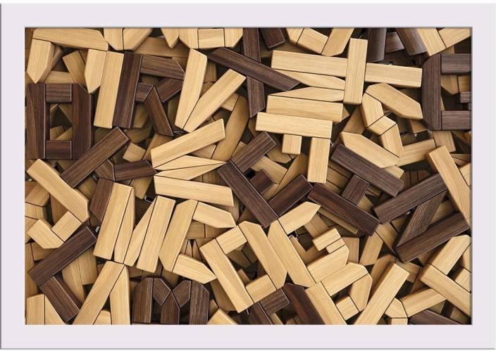 Artzfolio Photo Of Wooden Letters Framed Art Print Digital Reprint 8