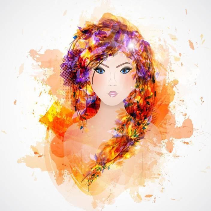 Pitaara Box Abstract Woman With Abstract Hair Unframed Wall Art