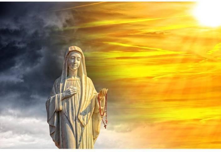 7ee24c319f1b8 Pitaara Box Virgin Mary Unframed Wall Art Painting Print Canvas 20 ...