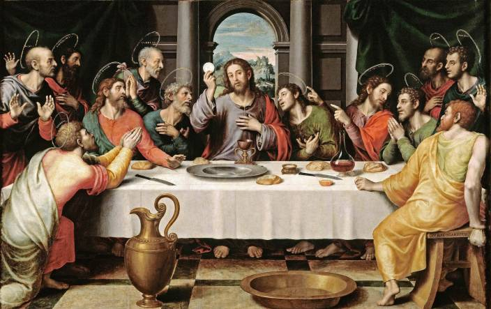 Elegance Last Supper Canvas 175 Inch X 28 Inch Painting Price In