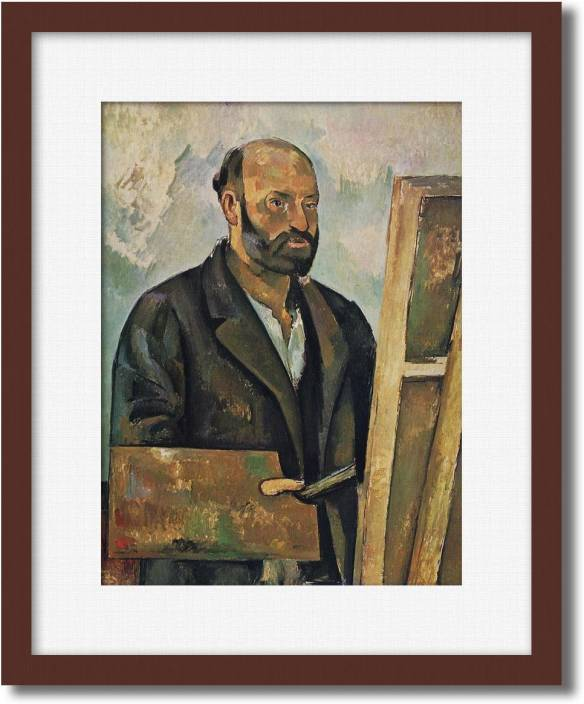 524bd99fda93 PosterMart Paul Cezanne - Self Portrait with Palette Digital Reprint 15  inch x 13 inch Painting