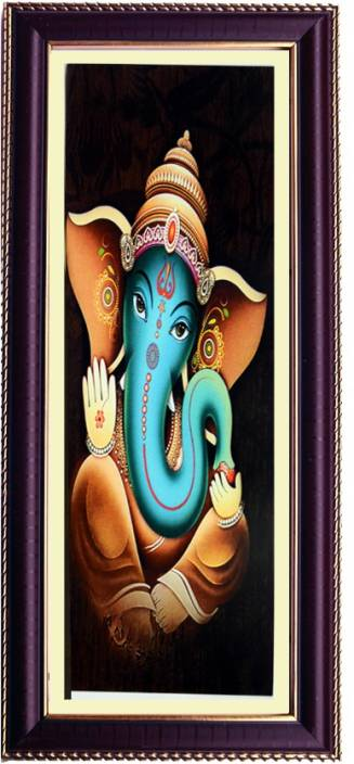 Janki God Ganesh Ji Wall Painting For Temple With Frame Digital Reprint 17 716535432999997 Inch X 8 0708661417 Inch Painting