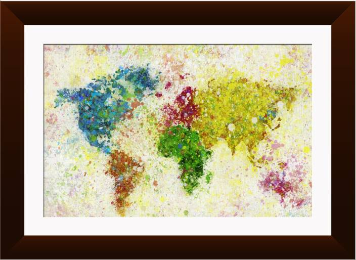 Wallmantra colorful world map wall hanging canvas painting price in wallmantra colorful world map wall hanging canvas painting gumiabroncs Image collections