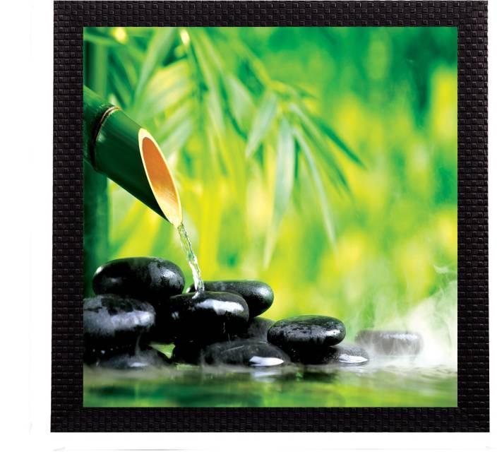 eCraftIndia Bamboo Shoot Satin Matt Textured UV Canvas Painting