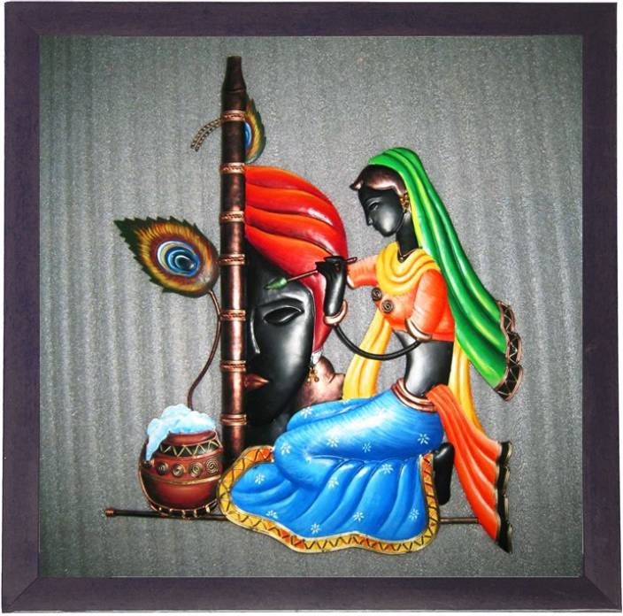 Lila paintings radha krishna canvas painting price in for Buy mural paintings