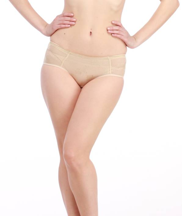 f258457f801 Glus Spendex Lycra Lace Butt Enhance Padded Women s Hipster Beige Panty  (Pack of 1)