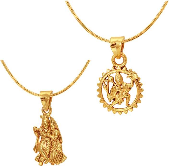 Mahi radha krishna hanuman 24k yellow gold alloy pendant price in mahi radha krishna hanuman 24k yellow gold alloy pendant aloadofball Images