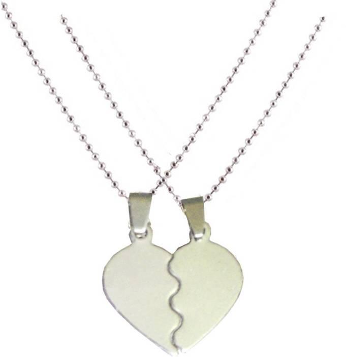 Men style couple heart love alloy pendant price in india buy men men style couple heart love alloy pendant aloadofball Images