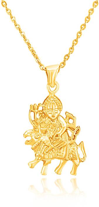 mahi maa durga gold plated brass alloy pendant price in india buy