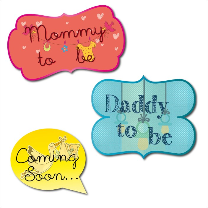 TBT Baby Shower Props Photo Booth Board